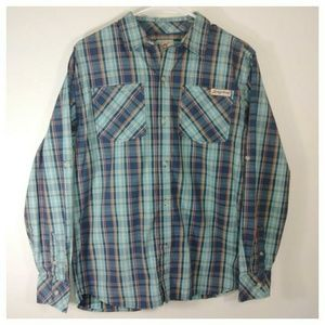 Lucky Brand Button Down 2 pocket shirt 100% cotton